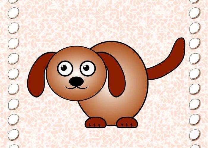 Dog Greeting Card featuring the digital art Dog - Animals - Art For Kids by Anastasiya Malakhova