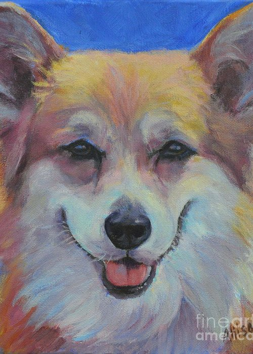 Pet Greeting Card featuring the painting Dog Days of Summer 3 by Stephanie Allison
