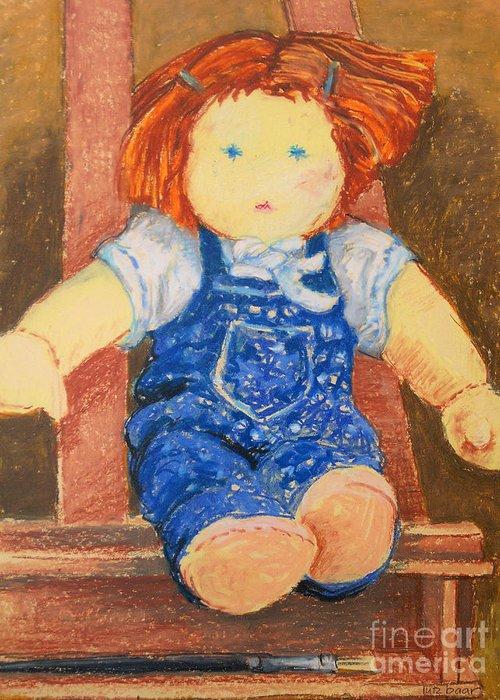 Baar Greeting Card featuring the pastel Doll by Lutz Baar