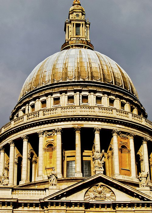 Britain Greeting Card featuring the photograph Dome Of St. Paul's Cathedral by Christi Kraft