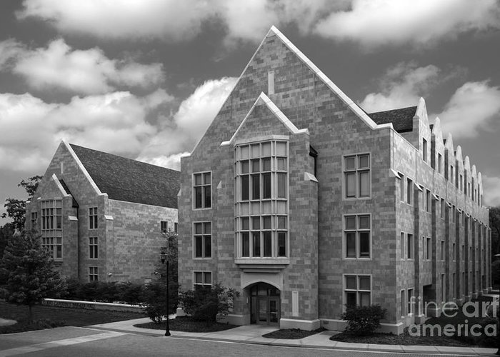 Catholic Greeting Card featuring the photograph Dominican University Parmer Hall by University Icons