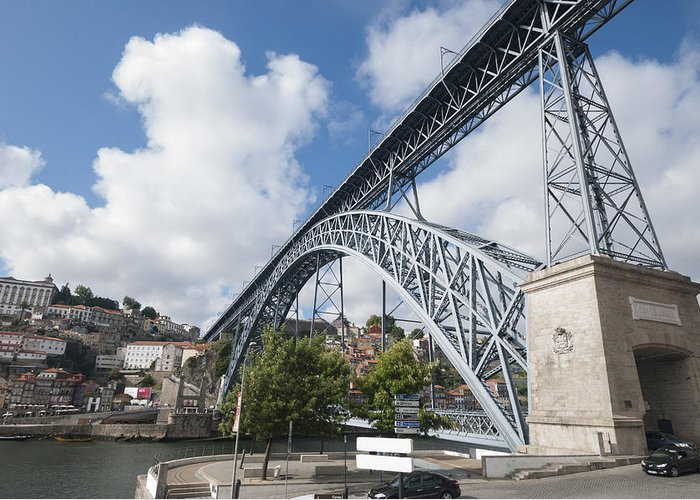 Porto Greeting Card featuring the photograph Don Luis Bridge In Oporto by Oscar Hurtado