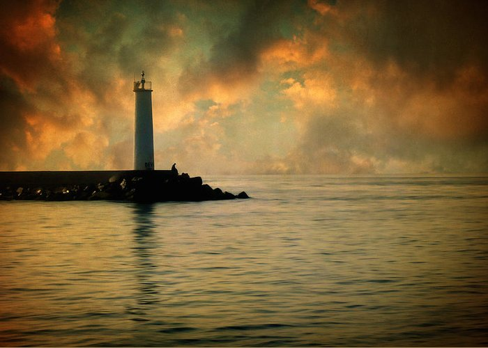 Lighthouse Greeting Card featuring the photograph Don't Leave Me Now by Taylan Apukovska