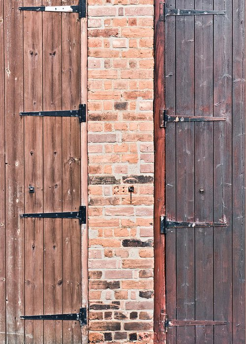 Access Greeting Card featuring the photograph Door Hinges by Tom Gowanlock