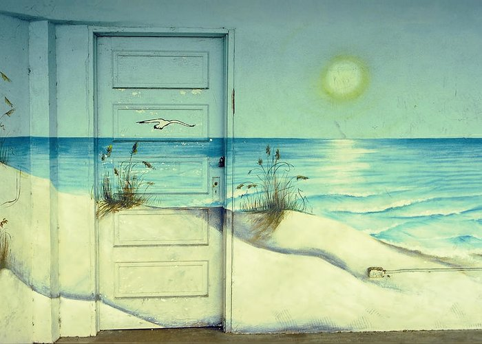 Architecture Greeting Card featuring the photograph Door Of Perception by Skip Hunt