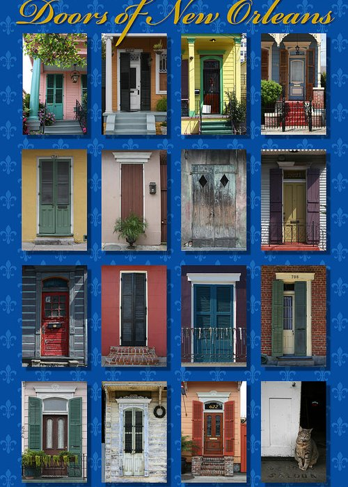 New Orleans Greeting Card featuring the photograph Doors Of New Orleans by Heidi Hermes
