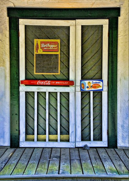 Kenny Francis Greeting Card featuring the photograph Doorway To The Past by Kenny Francis