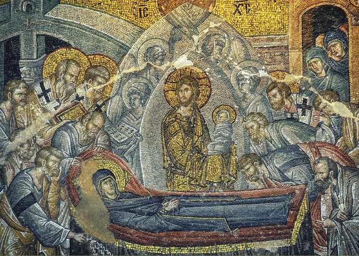 Jesus Greeting Card featuring the photograph Dormition Of The Virgin by Taylan Apukovska