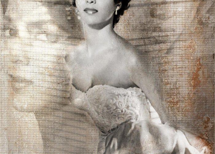 1940s Portraits Photographs Greeting Card featuring the digital art Dorthy Dandridge by Lynda Payton