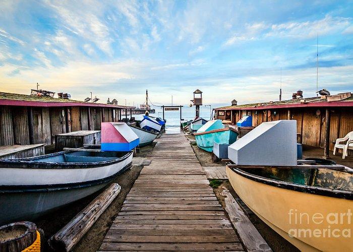 Balboa Peninsula Greeting Card featuring the photograph Dory Fishing Fleet Newport Beach California by Paul Velgos