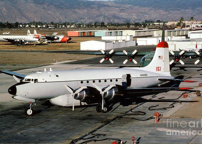 N460wa Greeting Card featuring the photograph Douglas C-54e Firefighting Airtanker N460wa by Wernher Krutein