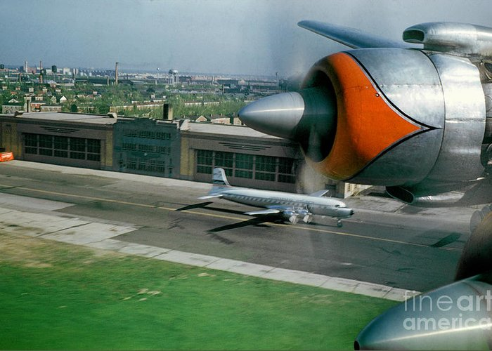 Douglas Dc-7 Greeting Card featuring the photograph Douglas Dc-7 Taking Off by Wernher Krutein