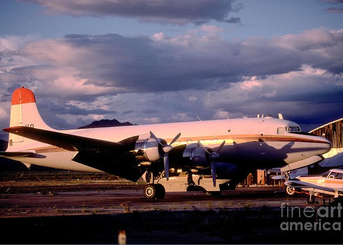 N406wa Greeting Card featuring the photograph Douglas Dc4 Firefighting Airtanker by Wernher Krutein