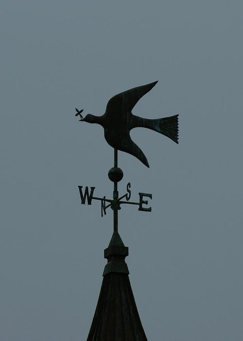 Dove Weathervane Greeting Card featuring the photograph Dove Weathervane by Ernie Echols