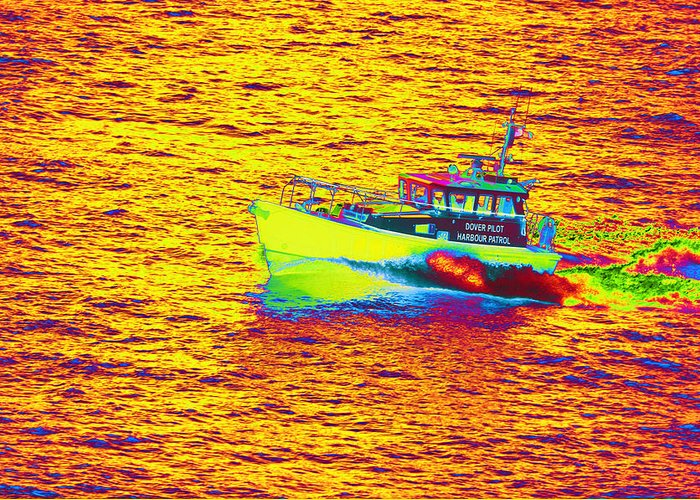 Dover Greeting Card featuring the photograph Dover Pilot Psychedelicized by Richard Henne
