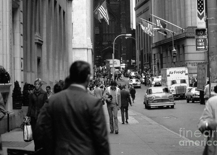 New York City Greeting Card featuring the photograph Downtown 1978 by Bob Stone