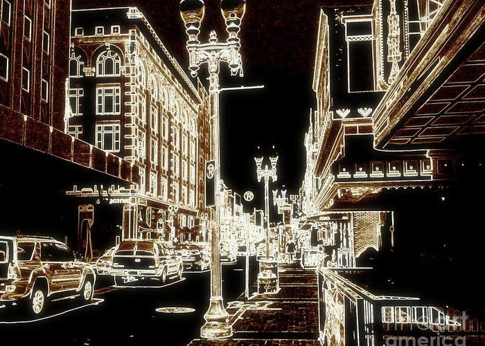 Tennessee Greeting Card featuring the digital art Downtown 2 By Angelia by Angelia Hodges Clay