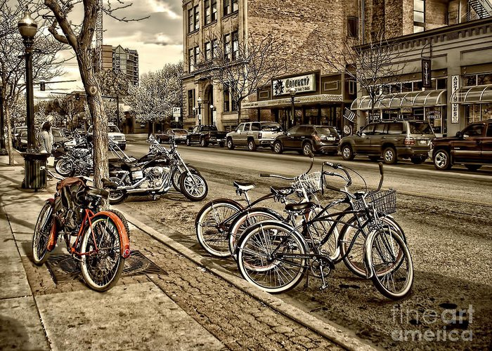Coeur D'alene Greeting Card featuring the photograph Downtown Coeur D'alene Idaho by Scarlett Images Photography