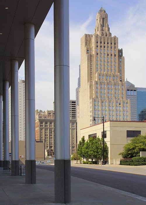 Architecture Greeting Card featuring the photograph Downtown Kansas City by Mike McGlothlen