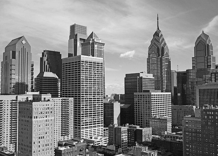 Philadelphia Greeting Card featuring the photograph Downtown Philadelphia by Rona Black