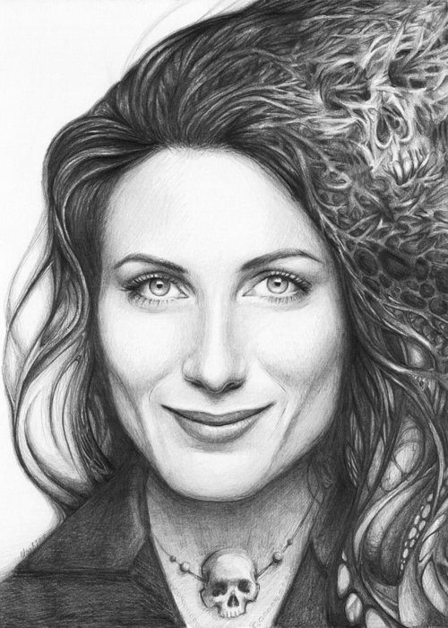 House Md Greeting Card featuring the drawing Dr. Lisa Cuddy - House Md by Olga Shvartsur