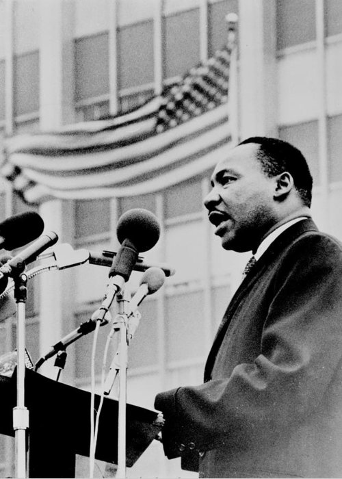 Civil Rights Greeting Card featuring the photograph Dr Martin Luther King Jr by Benjamin Yeager