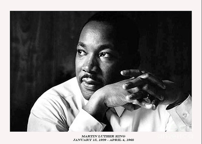 Martin Luther King Greeting Card featuring the photograph Dr. Martin Luther King Jr. by David Bearden