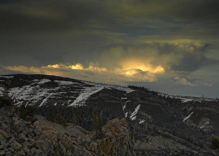 Mountains Greeting Card featuring the photograph Drama Is Coming by Donna Blackhall