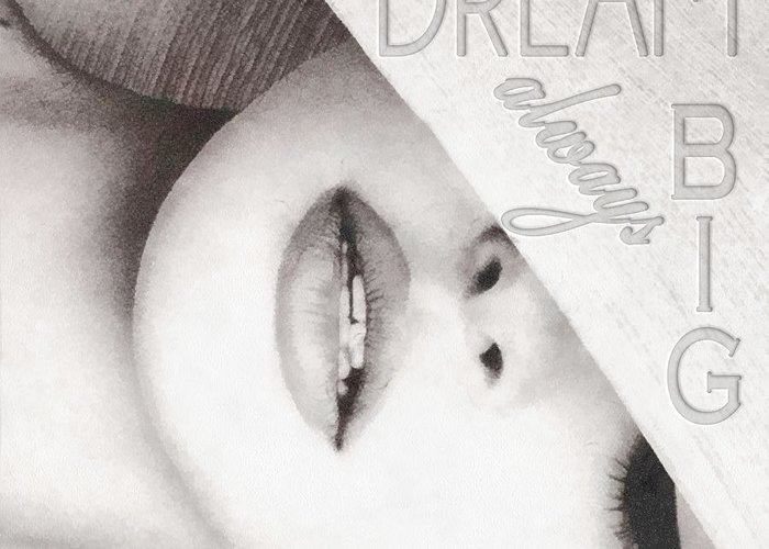 Dream Big Greeting Card featuring the mixed media Dream Big by Mo T