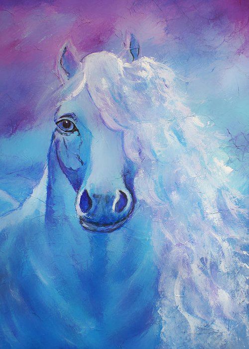 Horse Greeting Card featuring the painting Dream Catcher by The Art With A Heart By Charlotte Phillips