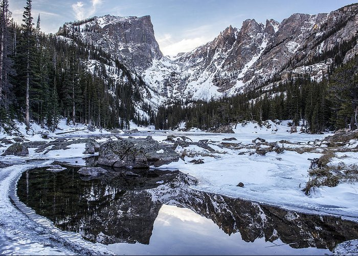 Colorado Greeting Card featuring the photograph Dream Lake Reflection by Aaron Spong