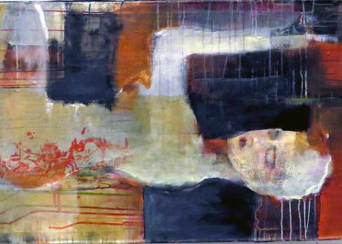 Woman Greeting Card featuring the painting Dream by Ricardo Calicchio
