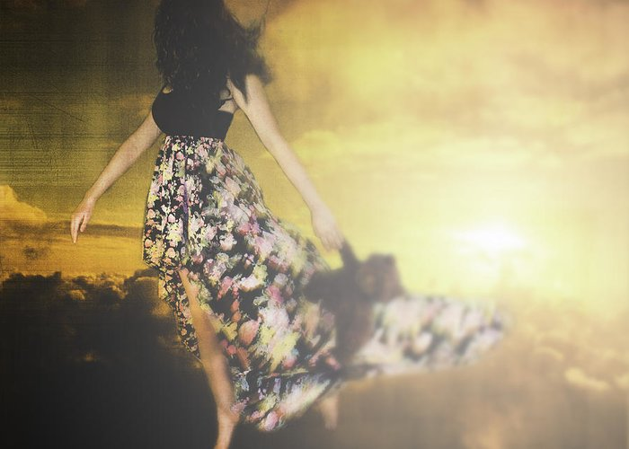 Composite Greeting Card featuring the photograph Dream Walker by Jordy Goff