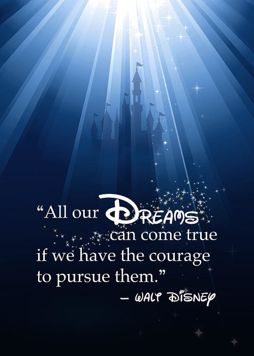 Disney Greeting Card featuring the digital art Dreams Can Come True by Nancy Ingersoll