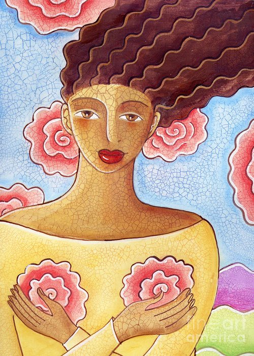 Figurative Greeting Card featuring the painting Dreams by Elaine Jackson