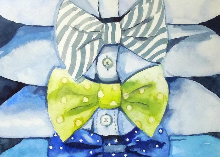 Bowtie Paintings Greeting Cards