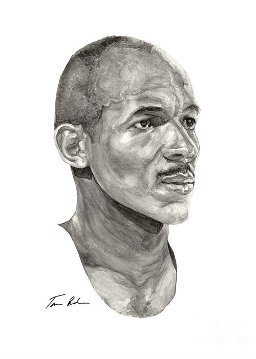 Clyde Drexler Greeting Card featuring the painting Drexler by Tamir Barkan