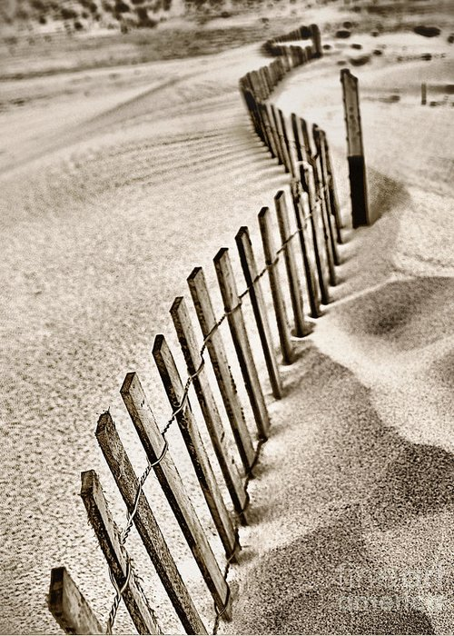 Sand Greeting Card featuring the photograph Drift Iv by Brett Maniscalco