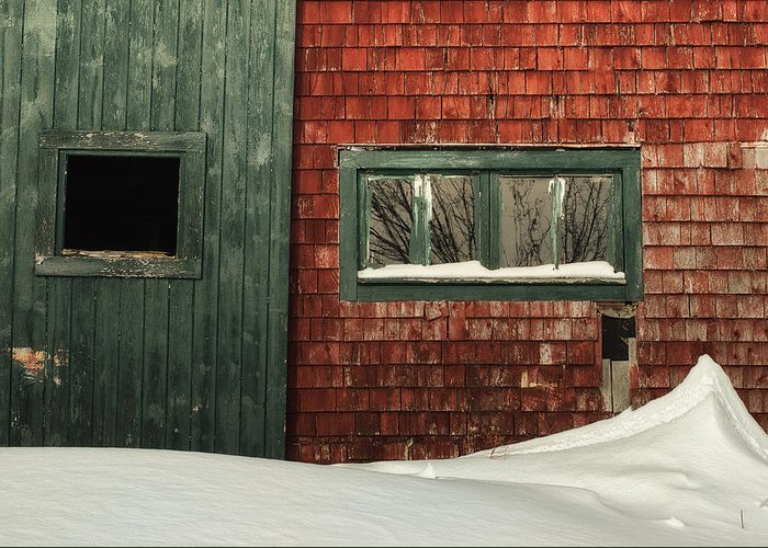 Barn Greeting Card featuring the photograph Drifted In by Susan Capuano
