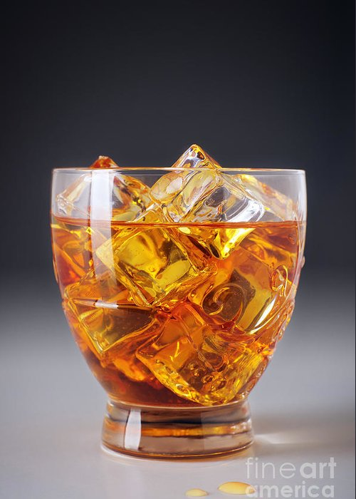 Alcohol Greeting Card featuring the photograph Drink On Ice by Carlos Caetano