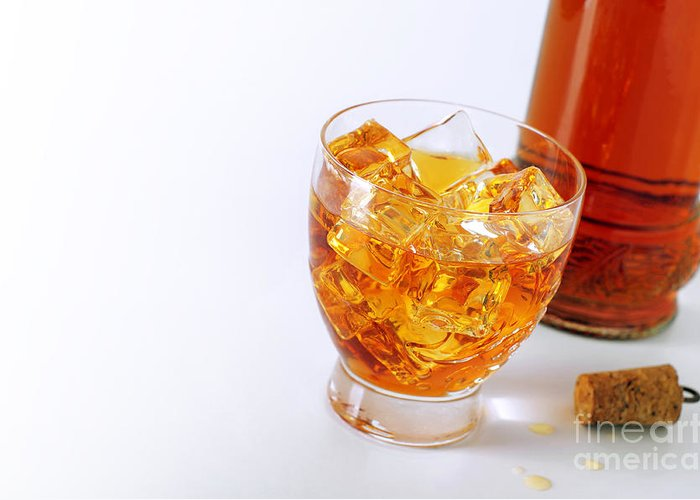Alcohol Greeting Card featuring the photograph Drink On The Rocks by Carlos Caetano