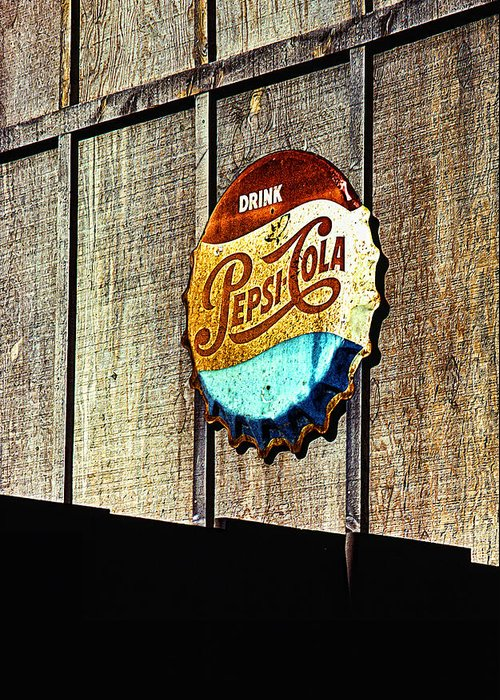 Drink Pepsi Cola Greeting Card featuring the photograph Drink Pepsi Cola by Ron Regalado