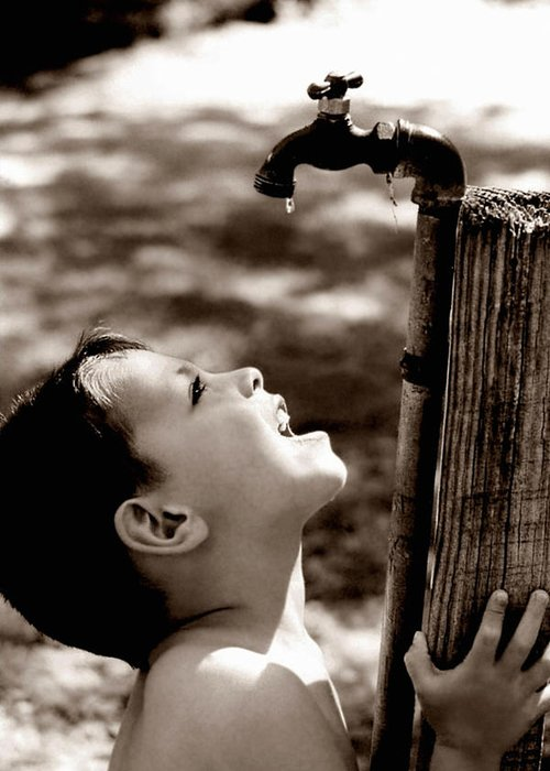 Child Greeting Card featuring the photograph Drip by Trish Mistric