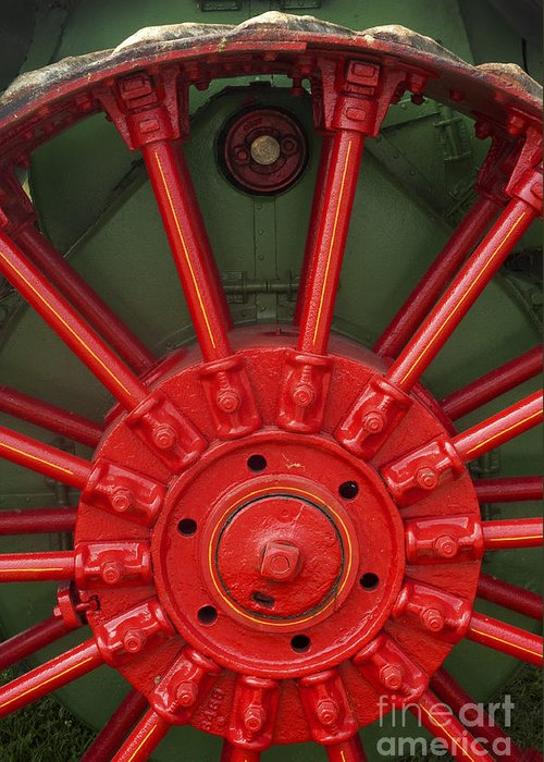 Tractor Greeting Card featuring the photograph Drive Wheel by Paul W Faust - Impressions of Light