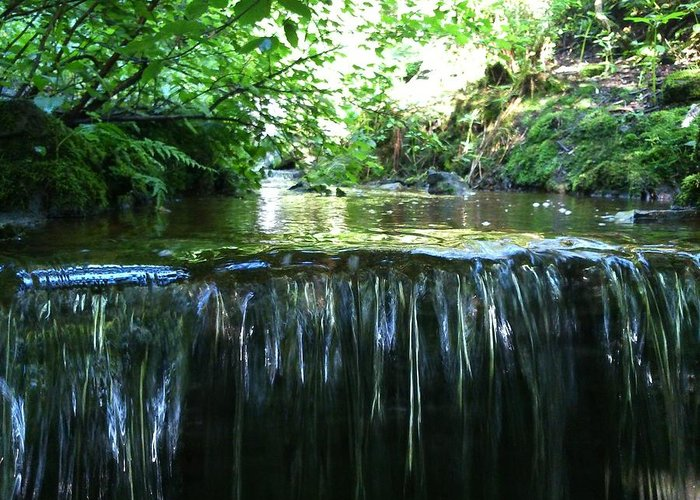 Stream Greeting Card featuring the photograph Drop Off by Phil Nolan