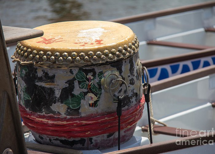 Dragon Boating Greeting Card featuring the photograph Drummer's Seat by Conni Walker