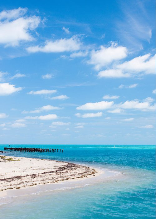 Florida Greeting Card featuring the photograph Dry Tortugas Coaling Dock by Adam Pender