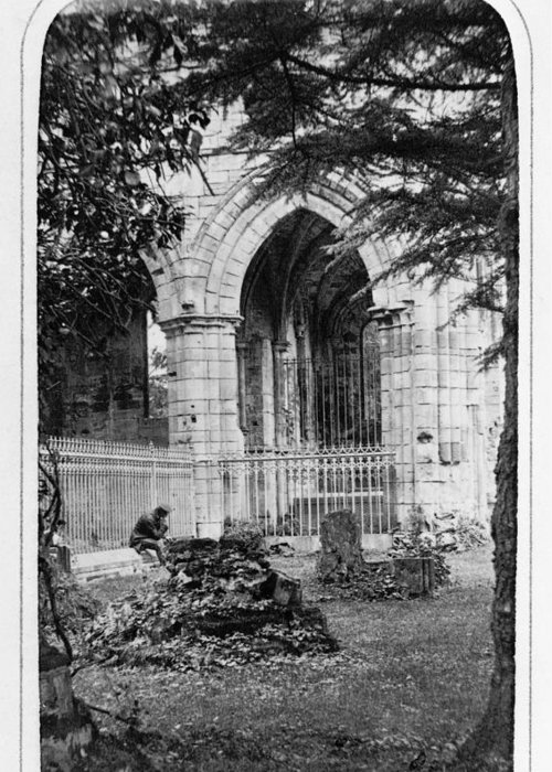 1866 Greeting Card featuring the photograph Dryburgh Abbey, 1866 by Granger