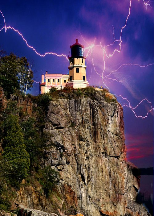 Lighthouse Greeting Card featuring the photograph Dsc00149 by Marty Koch