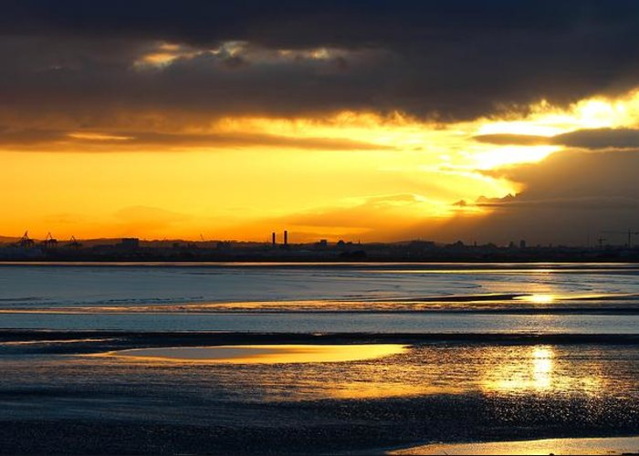 Dublin Bay Greeting Card featuring the photograph Dublin Bay Sunset by Robert Phelan